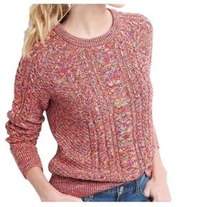 Multicolored Cable Knit Gap Sweater